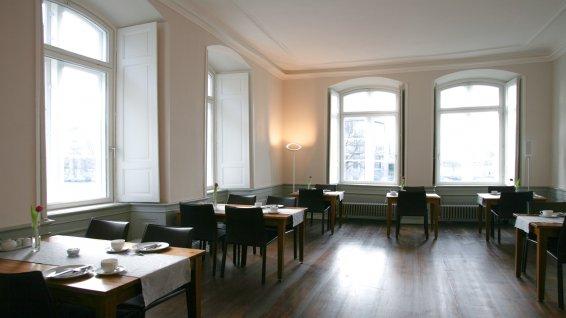Der Frühstücksraum im Hotel Anno 1216