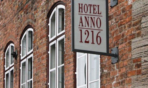 Hotel Anno 1216 - Lübeck - Aussenschild