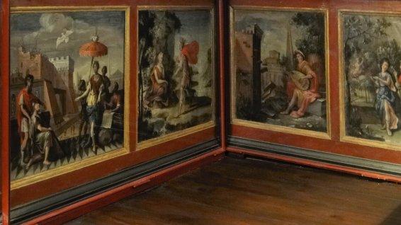 Wandpaneel-Malerei mit Metamorphosen des Ovid